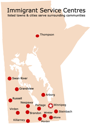 Welcoming Communities Manitoba Immigration And Economic - Map of manitoba canada cities